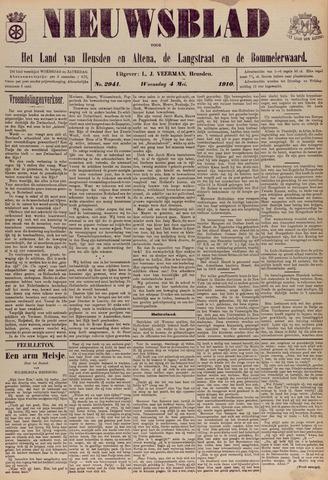 Nieuwsblad het land van Heusden en Altena de Langstraat en de Bommelerwaard 1910-05-04