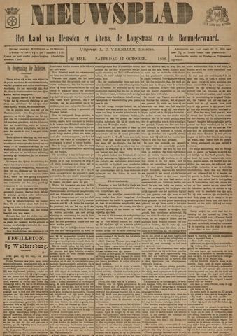 Nieuwsblad het land van Heusden en Altena de Langstraat en de Bommelerwaard 1896-10-17