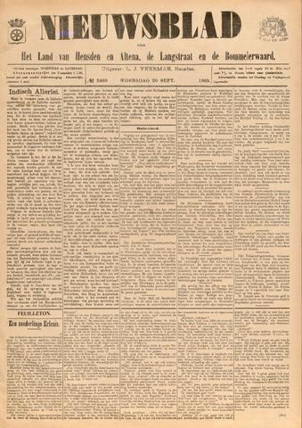 Nieuwsblad het land van Heusden en Altena de Langstraat en de Bommelerwaard 1905-09-20