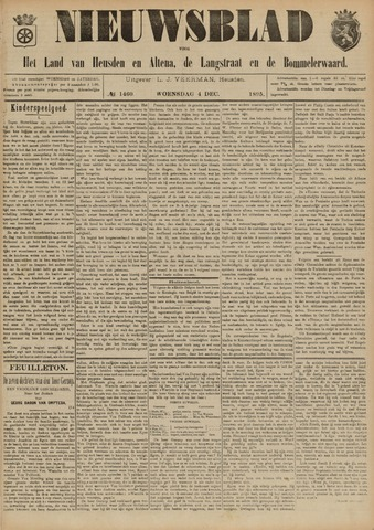 Nieuwsblad het land van Heusden en Altena de Langstraat en de Bommelerwaard 1895-12-04