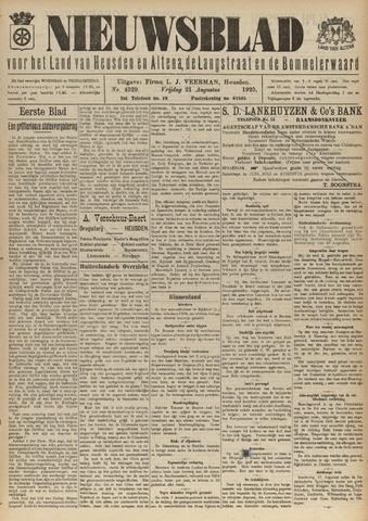 Nieuwsblad het land van Heusden en Altena de Langstraat en de Bommelerwaard 1925-08-21