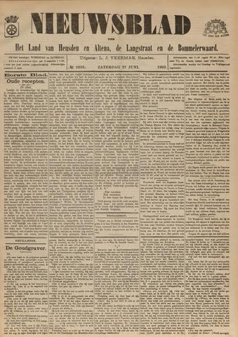 Nieuwsblad het land van Heusden en Altena de Langstraat en de Bommelerwaard 1903-06-27