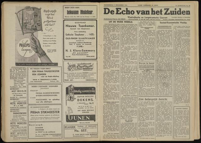 Echo van het Zuiden 1948-12-09