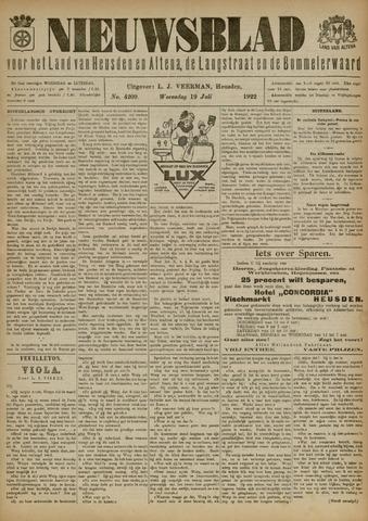 Nieuwsblad het land van Heusden en Altena de Langstraat en de Bommelerwaard 1922-07-19