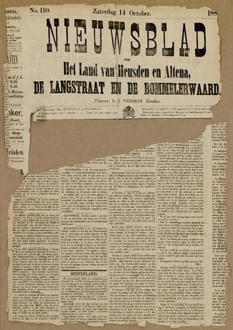 Nieuwsblad het land van Heusden en Altena de Langstraat en de Bommelerwaard 1882-10-14