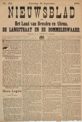 Nieuwsblad het land van Heusden en Altena de Langstraat en de Bommelerwaard 1885-09-19