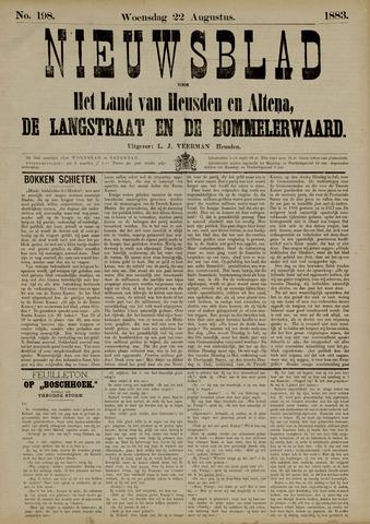 Nieuwsblad het land van Heusden en Altena de Langstraat en de Bommelerwaard 1883-08-22