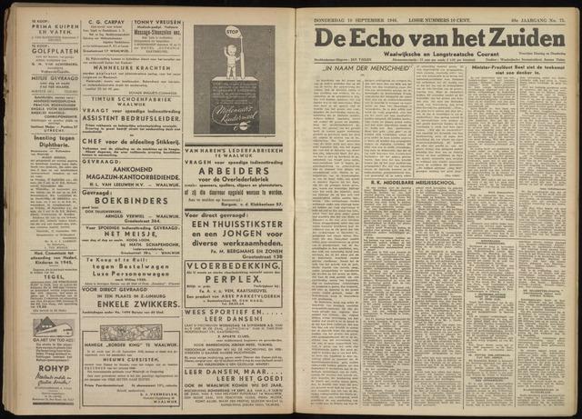 Echo van het Zuiden 1946-09-19