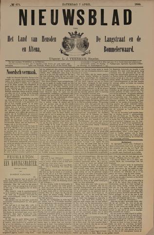 Nieuwsblad het land van Heusden en Altena de Langstraat en de Bommelerwaard 1888-04-07
