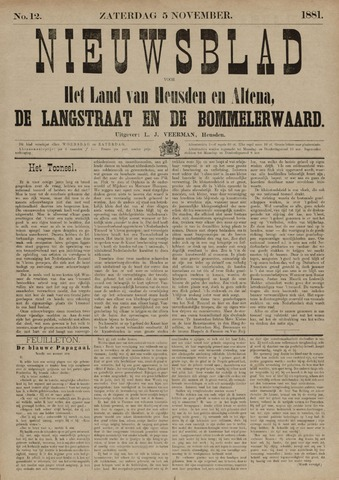 Nieuwsblad het land van Heusden en Altena de Langstraat en de Bommelerwaard 1881-11-05