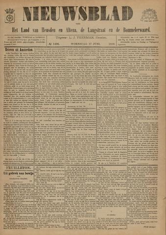Nieuwsblad het land van Heusden en Altena de Langstraat en de Bommelerwaard 1896-06-17