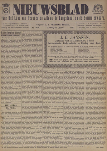 Nieuwsblad het land van Heusden en Altena de Langstraat en de Bommelerwaard 1917-03-31