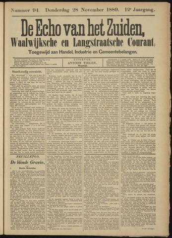 Echo van het Zuiden 1889-11-28