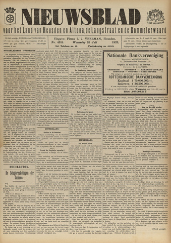 Nieuwsblad het land van Heusden en Altena de Langstraat en de Bommelerwaard 1923-07-25