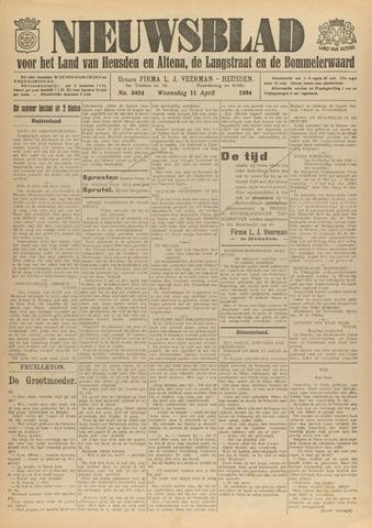 Nieuwsblad het land van Heusden en Altena de Langstraat en de Bommelerwaard 1934-04-11