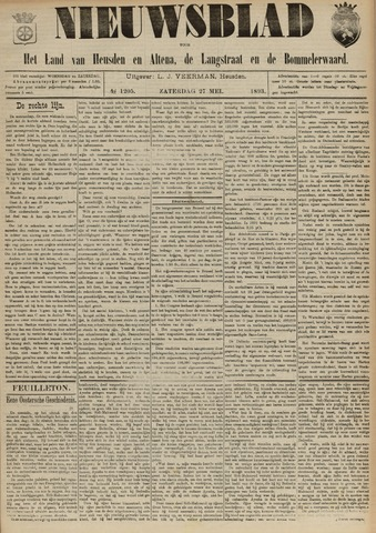 Nieuwsblad het land van Heusden en Altena de Langstraat en de Bommelerwaard 1893-05-27