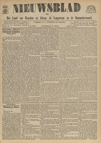 Nieuwsblad het land van Heusden en Altena de Langstraat en de Bommelerwaard 1904-06-11