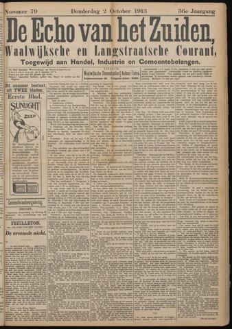 Echo van het Zuiden 1913-10-02