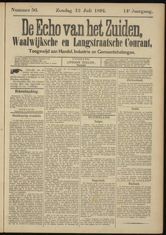 Echo van het Zuiden 1891-07-12