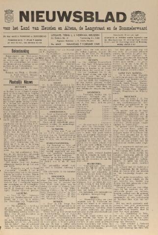 Nieuwsblad het land van Heusden en Altena de Langstraat en de Bommelerwaard 1949-02-07