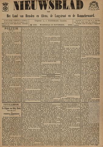 Nieuwsblad het land van Heusden en Altena de Langstraat en de Bommelerwaard 1896-11-18