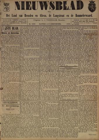 Nieuwsblad het land van Heusden en Altena de Langstraat en de Bommelerwaard 1893-12-02