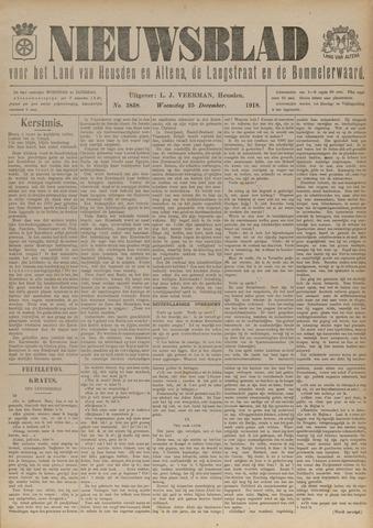 Nieuwsblad het land van Heusden en Altena de Langstraat en de Bommelerwaard 1918-12-25