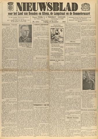 Nieuwsblad het land van Heusden en Altena de Langstraat en de Bommelerwaard 1943-12-10