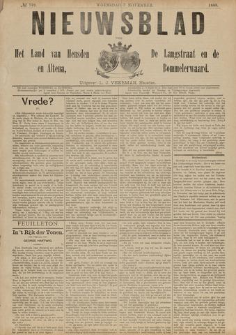 Nieuwsblad het land van Heusden en Altena de Langstraat en de Bommelerwaard 1888-11-07