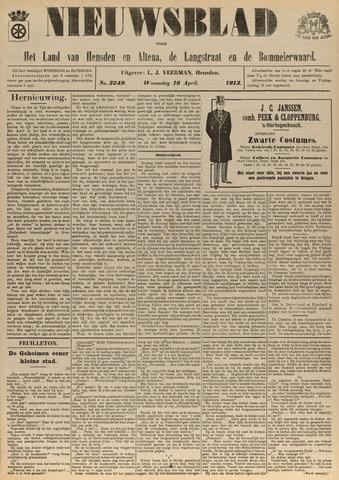 Nieuwsblad het land van Heusden en Altena de Langstraat en de Bommelerwaard 1913-04-16