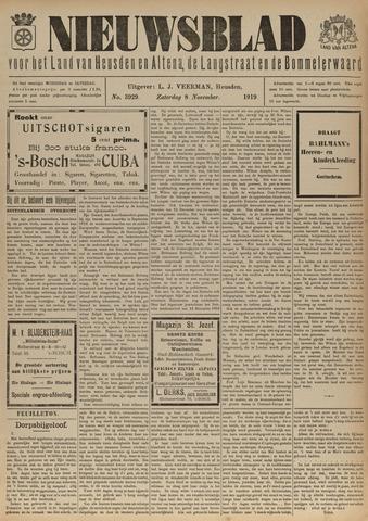 Nieuwsblad het land van Heusden en Altena de Langstraat en de Bommelerwaard 1919-11-08