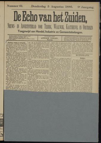 Echo van het Zuiden 1886-08-05