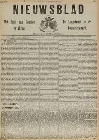 Nieuwsblad het land van Heusden en Altena de Langstraat en de Bommelerwaard 1890-09-27