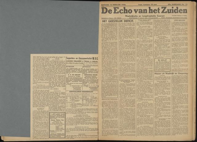 Echo van het Zuiden 1946-02-12