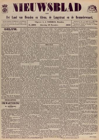 Nieuwsblad het land van Heusden en Altena de Langstraat en de Bommelerwaard 1910-11-19