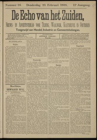 Echo van het Zuiden 1888-02-23