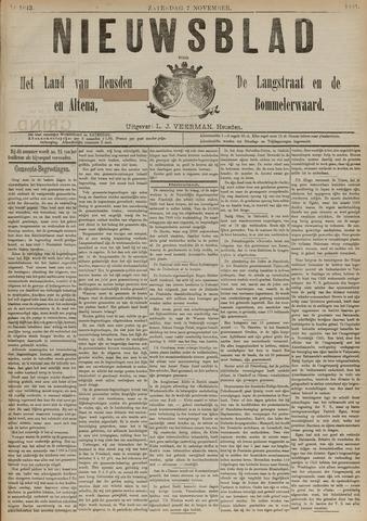Nieuwsblad het land van Heusden en Altena de Langstraat en de Bommelerwaard 1891-11-07