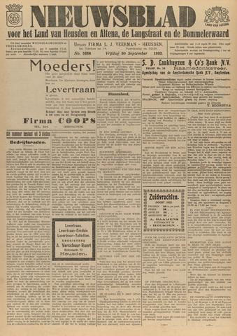 Nieuwsblad het land van Heusden en Altena de Langstraat en de Bommelerwaard 1932-09-30