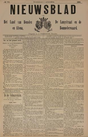 Nieuwsblad het land van Heusden en Altena de Langstraat en de Bommelerwaard 1888-08-01