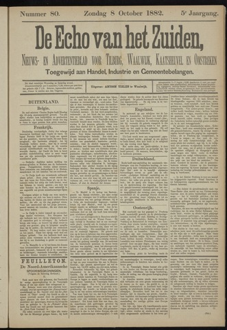 Echo van het Zuiden 1882-10-08
