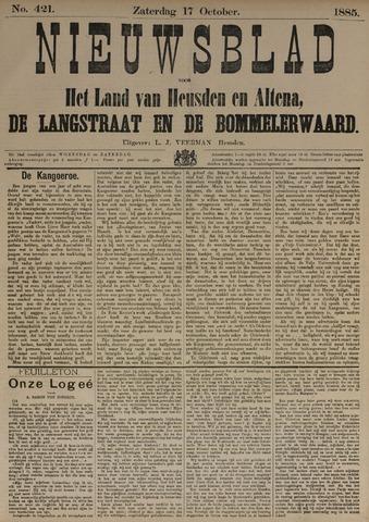 Nieuwsblad het land van Heusden en Altena de Langstraat en de Bommelerwaard 1885-10-17