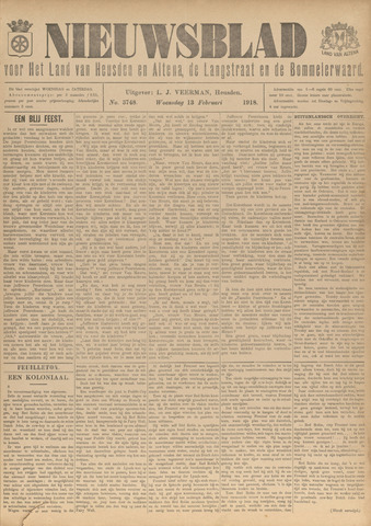 Nieuwsblad het land van Heusden en Altena de Langstraat en de Bommelerwaard 1918-02-13