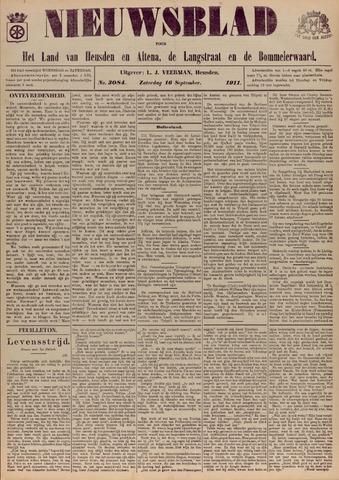 Nieuwsblad het land van Heusden en Altena de Langstraat en de Bommelerwaard 1911-09-16