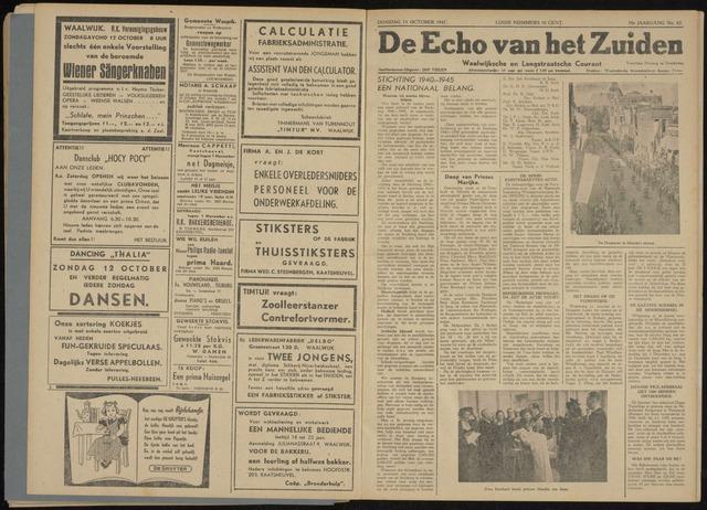 Echo van het Zuiden 1947-10-14