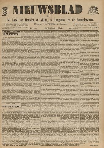 Nieuwsblad het land van Heusden en Altena de Langstraat en de Bommelerwaard 1902-11-22