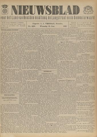 Nieuwsblad het land van Heusden en Altena de Langstraat en de Bommelerwaard 1921-06-15