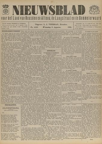 Nieuwsblad het land van Heusden en Altena de Langstraat en de Bommelerwaard 1921-08-03