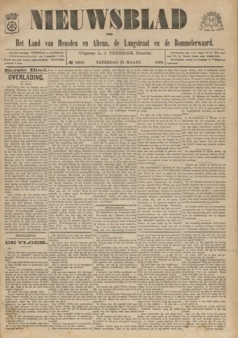 Nieuwsblad het land van Heusden en Altena de Langstraat en de Bommelerwaard 1903-03-21