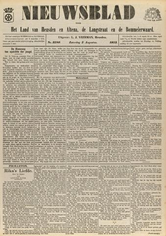 Nieuwsblad het land van Heusden en Altena de Langstraat en de Bommelerwaard 1913-08-02