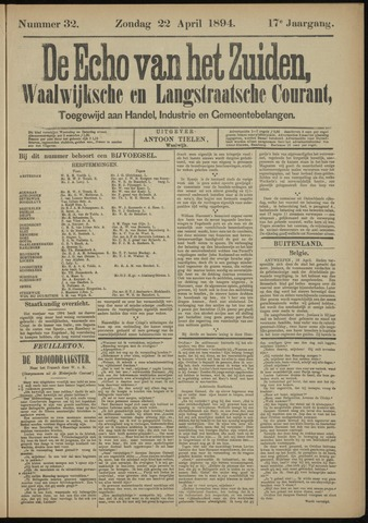 Echo van het Zuiden 1894-04-22